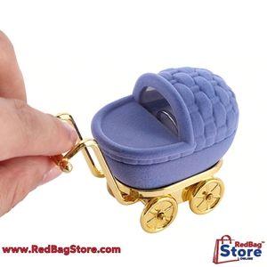 3/$25🔥Elegan Velvet Stroller Ring Box Jewelry Org